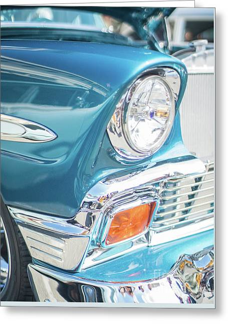 50s Chevy Chrome Greeting Card