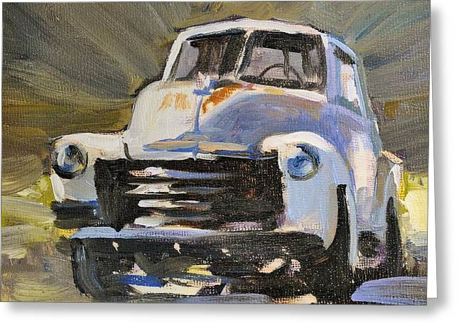 '52 Chevy Greeting Card by Spencer Meagher