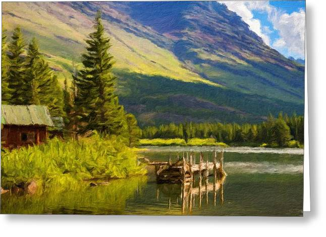 Landscape Painting Acrylic Greeting Card