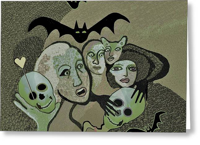 524 Halloween Happy Hour  A          Greeting Card