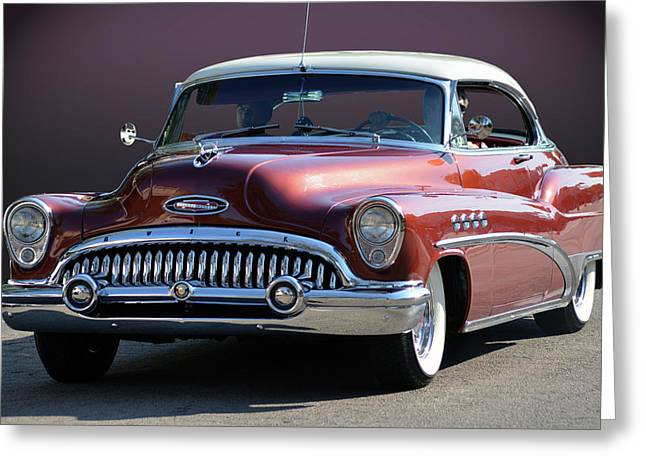 Greeting Card featuring the photograph 53 Roadmaster by Bill Dutting