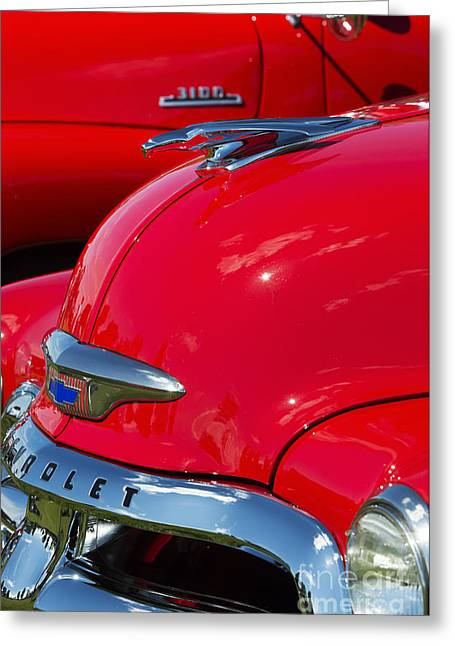54 Chevrolet Hood Greeting Card by Tim Gainey