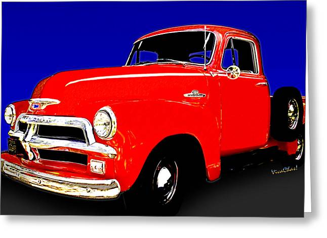 54 Chevy Pickup Acme Of An Age Greeting Card by Chas Sinklier