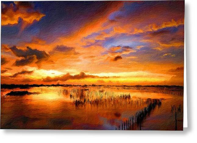 W H Landscape Greeting Card by Victoria Landscapes