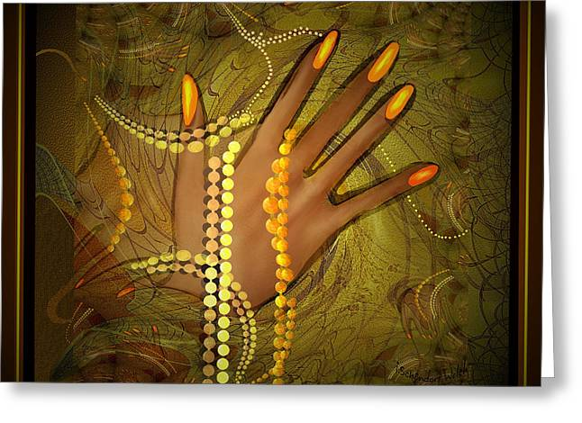 544 -  Gold Fingers  2017 Greeting Card