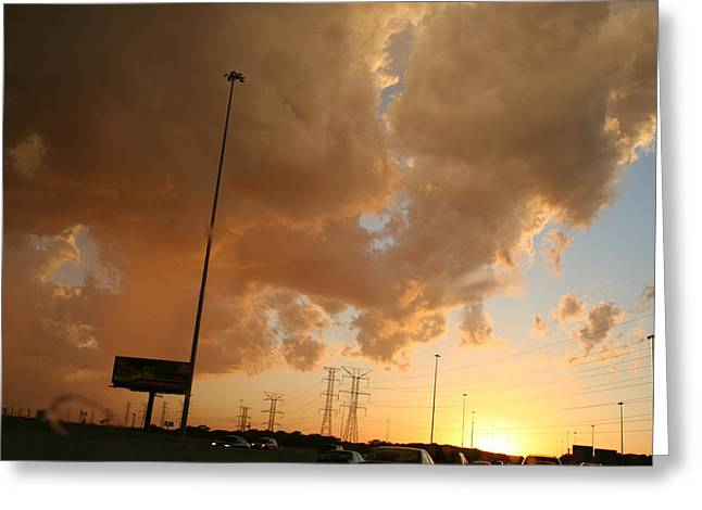 55 Sunset Greeting Card by Gregory Jeffries