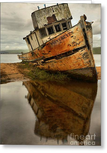 Retired Fishing Boat Greeting Card by Adam Jewell
