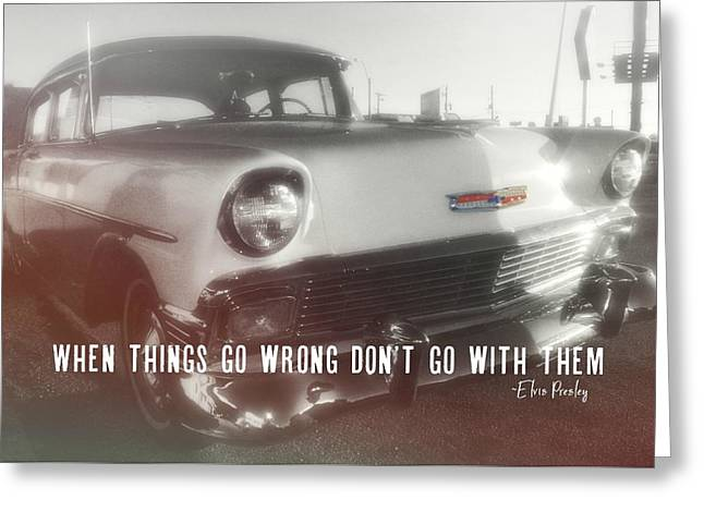 56 Belair In Memphis Quote Greeting Card by JAMART Photography