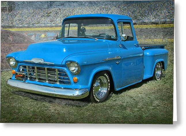 '56 Chevy Truck Greeting Card by Victor Montgomery