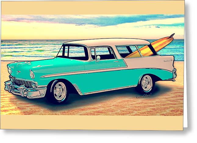 56 Nomad By The Sea In The Morning With Vivachas Greeting Card by Chas Sinklier