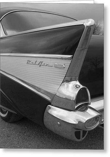 57 Chevy Greeting Card by Audrey Venute