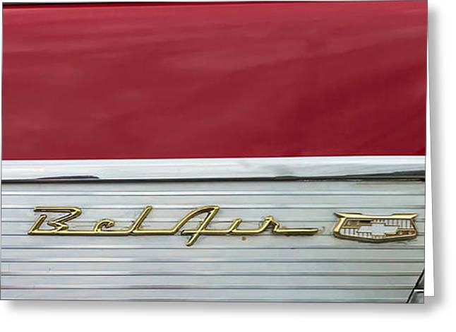 Greeting Card featuring the photograph 57 Chevy Bel Air by Mark Guinn