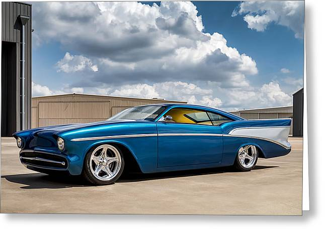 '57 Chevy Custom Greeting Card by Douglas Pittman