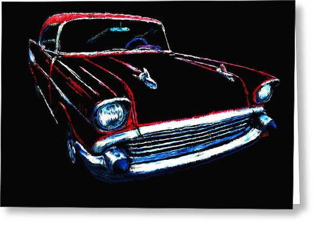 57 Chevy Greeting Card by Tim Tompkins