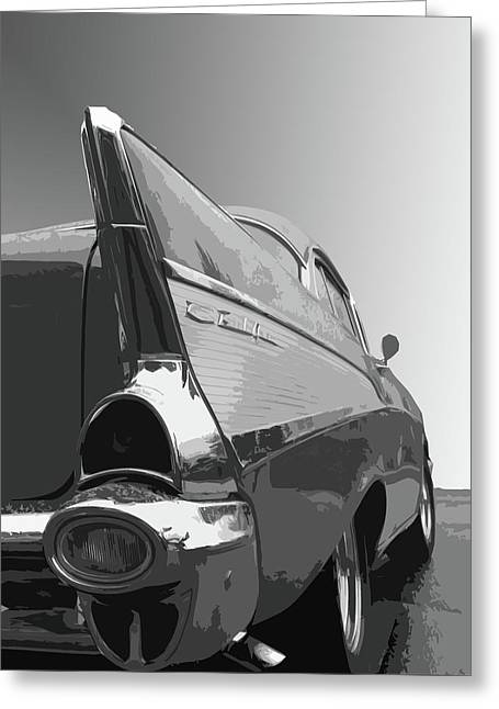 57 Chevy Verticle Greeting Card