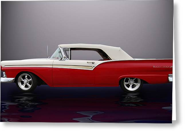 Cruisin For A Cure Greeting Cards - 57 Fairlane 500  Greeting Card by Bill Dutting