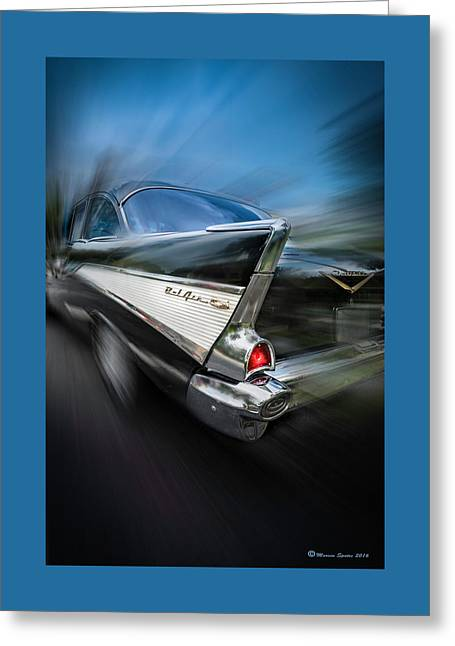 57' Go Power Greeting Card by Marvin Spates