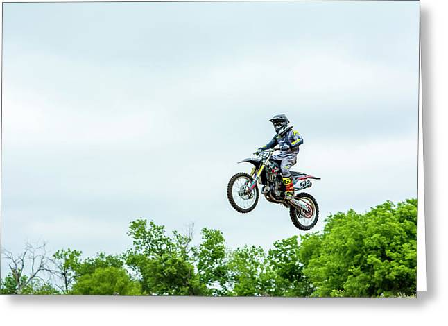 Greeting Card featuring the photograph 573 Flying High At White Knuckle Ranch by David Morefield