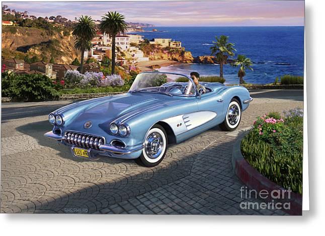 '58 Corvette Roadster Greeting Card