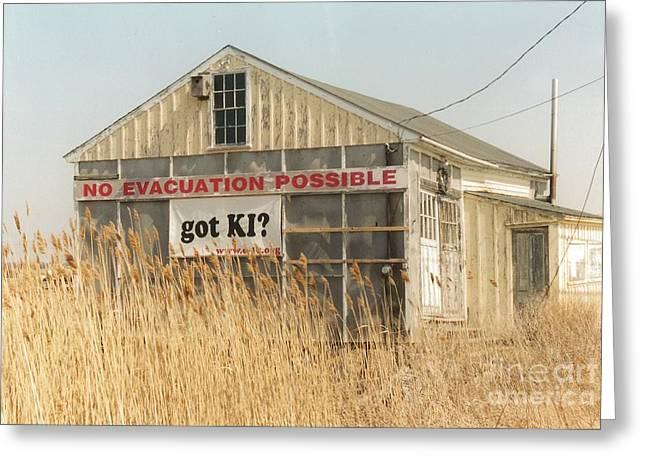 #585 22 Plum Island Marsh Got Ki No Evacuation Possible Landmark Greeting Card