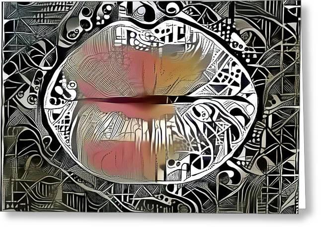 Kissing Lips Greeting Card