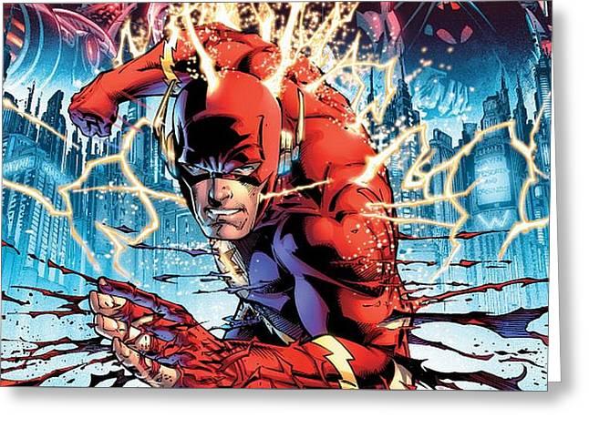 59819 Comics Flash Dc Comics Greeting Card