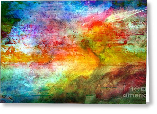 5a Abstract Expressionism Digital Painting Greeting Card