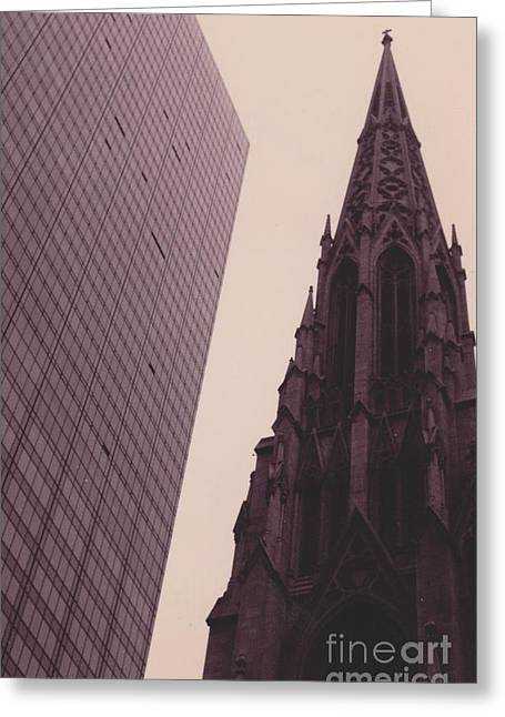 5th Avenue Nyc Old And New Greeting Card