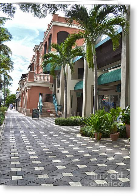 5th Avenue South Naples Florida Greeting Card by Timothy Lowry