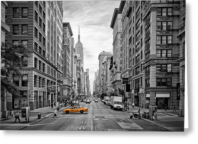 Urban 5th Avenue Nyc Greeting Card