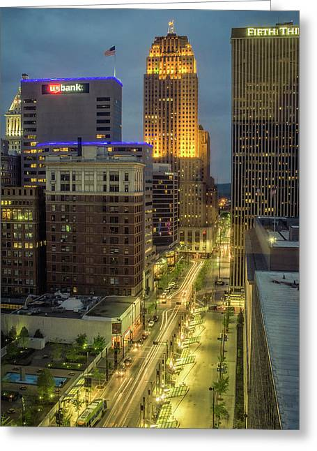 5th Street Cincinnati Greeting Card by Scott Meyer