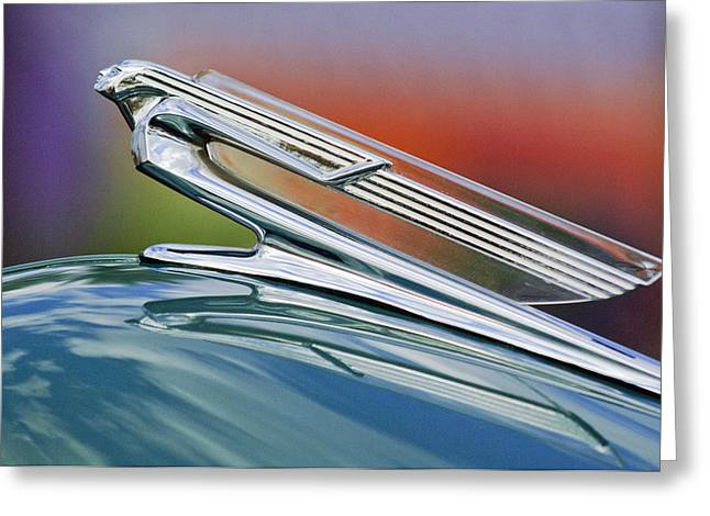 1940 Chevrolet Hood Ornament Greeting Card
