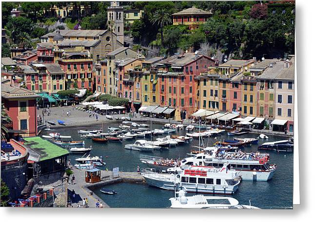 6 August 2016. Photography Of The Beautiful Portofino Fishing Village In Italy. View On Small Bay An Greeting Card
