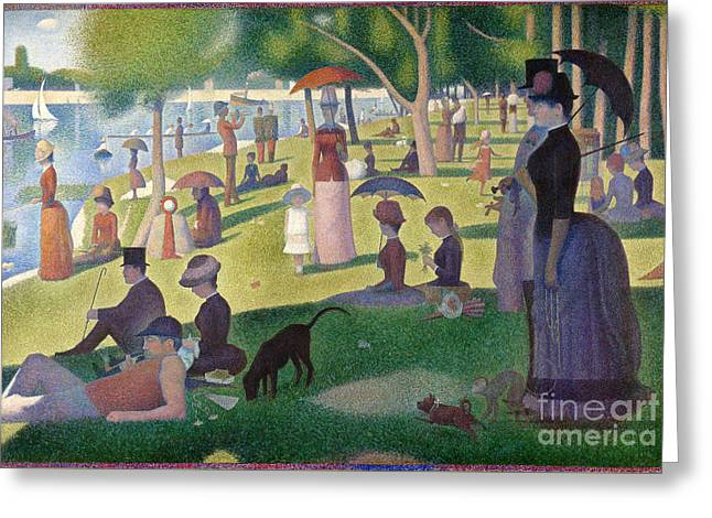 A Sunday On La Grande Jatte Greeting Card by Celestial Images