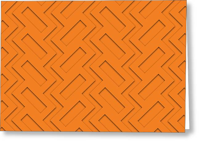 Abstract Orange, White And Red Pattern For Home Decoration Greeting Card