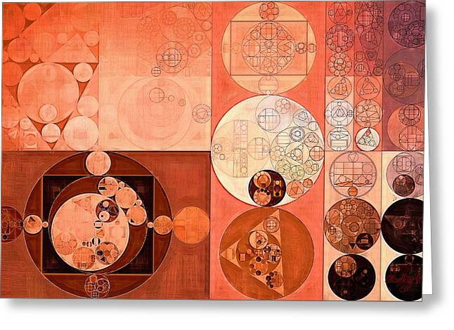 Abstract Painting - Dark Sienna Greeting Card by Vitaliy Gladkiy