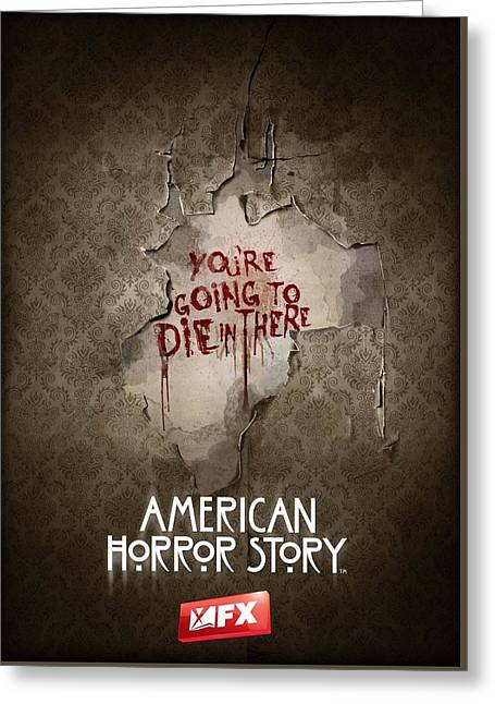 American Horror Story 2011 Greeting Card by Unknown