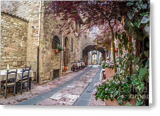 Ancient Town Of Assisi, Umbria, Italy Greeting Card by JR Photography