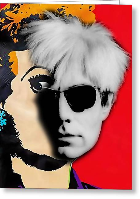 Andy Warhol Collection Greeting Card by Marvin Blaine