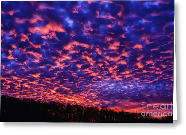 Greeting Card featuring the photograph Appalachian Sunset Afterglow by Thomas R Fletcher