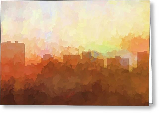 Arlington Texas Skyline Greeting Card
