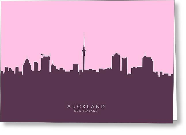 Auckland New Zealand Skyline Greeting Card
