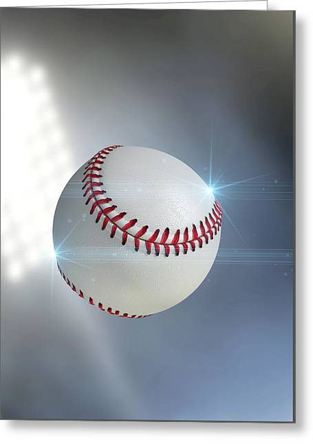 Ball Flying Through The Air Greeting Card