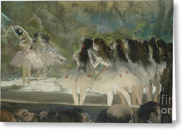 Ballet At The Paris Opera Greeting Card by Edgar Degas