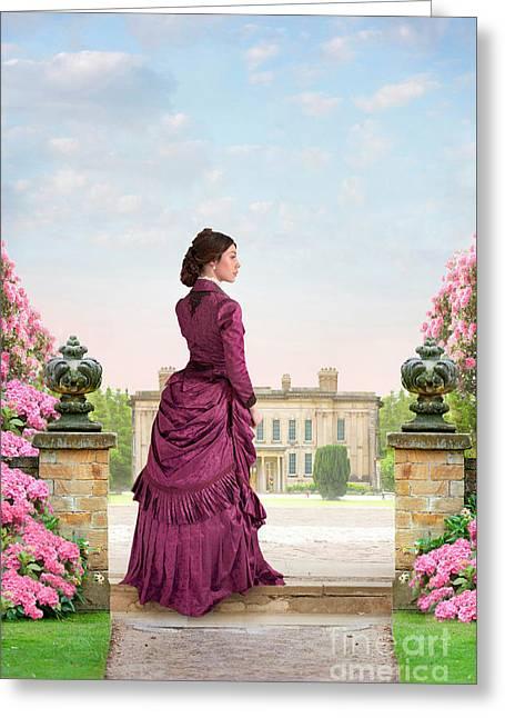 Beautiful Victorian Woman Greeting Card