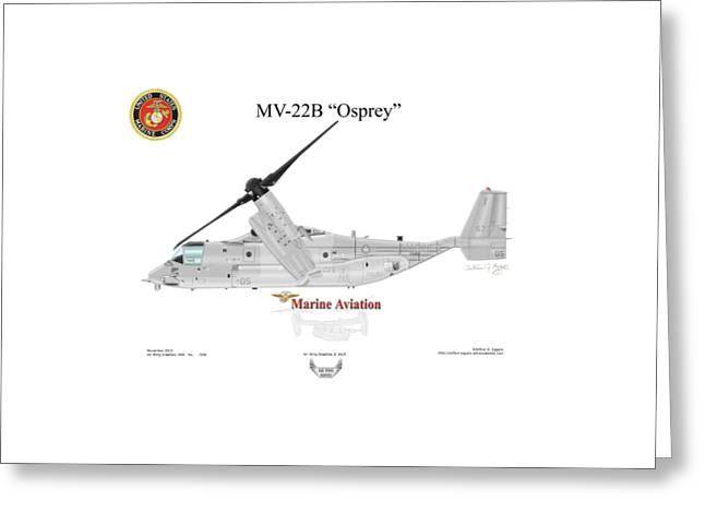 Bell Boeing Mv-22b Osprey Greeting Card by Arthur Eggers