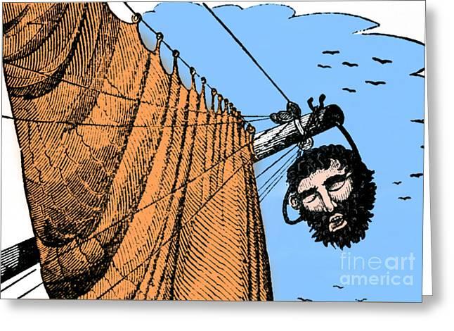 Blackbeard Edward Teach English Pirate Greeting Card by Science Source