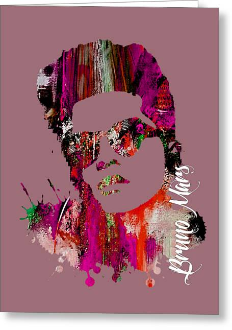 Bruno Mars Collection Greeting Card