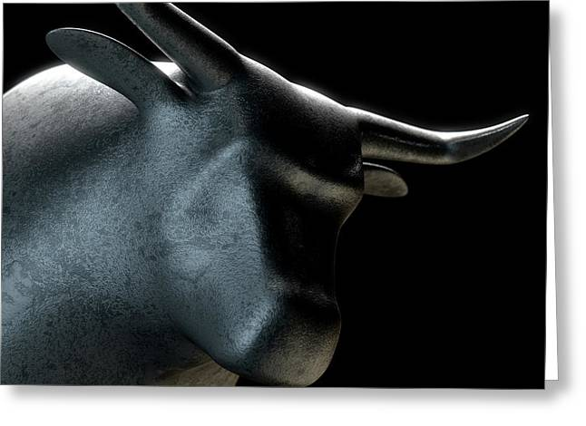 Bull Statue Greeting Card