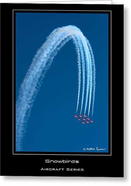 Canadian Snowbirds Greeting Card by Mathias Rousseau